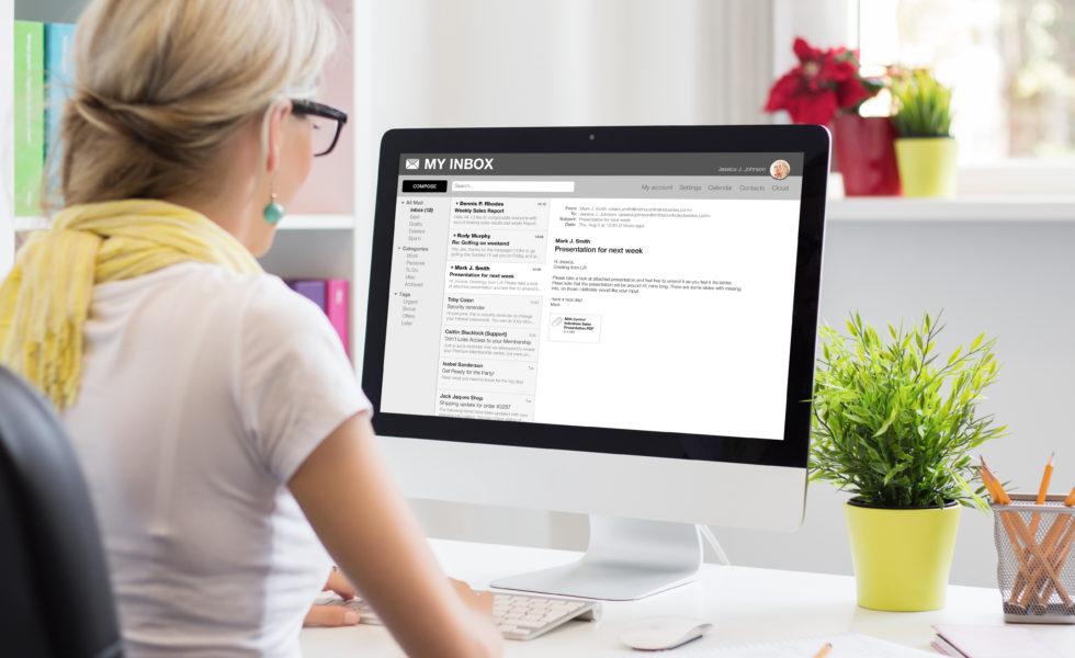 Patient Communications Woman On Laptop