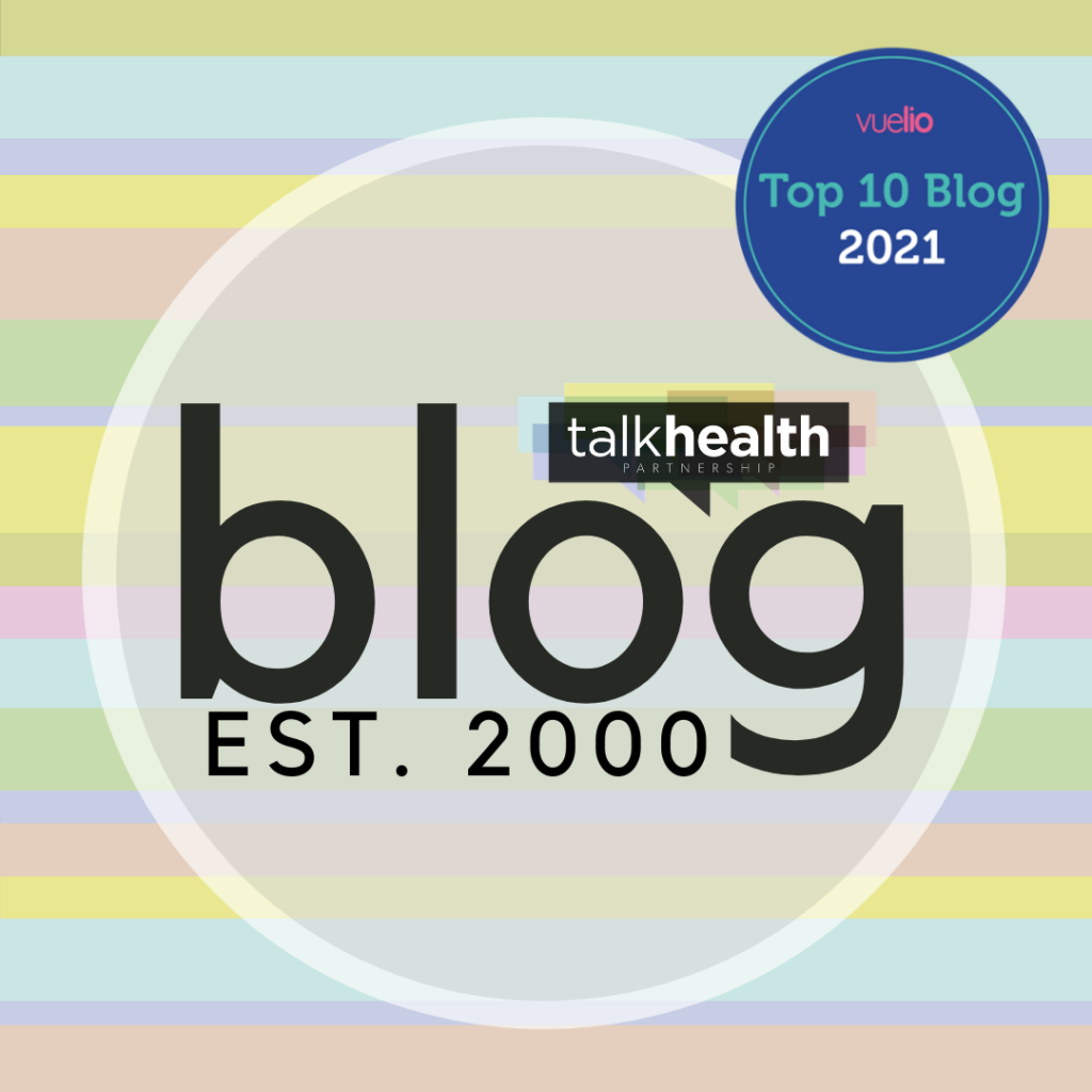 talkhealth logo with uk 10 top ten healthcare blogs accolade sticker